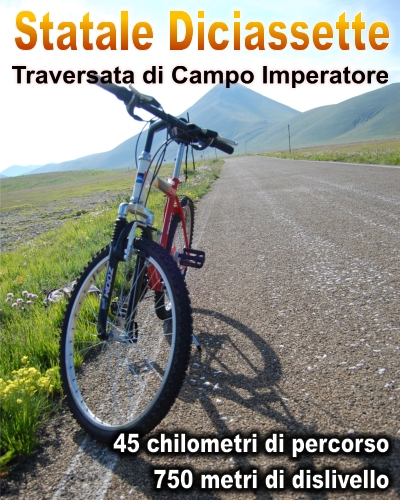 Traversata di Campo Imperatore in Mountain Bike