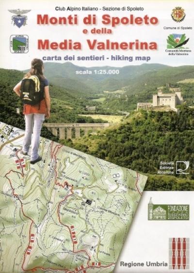 Cartina Geografica Spoleto.Carta Dei Monti Di Spoleto E Della Media Valnerina